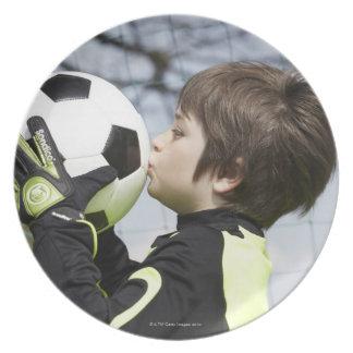 スポーツ、子供、フットボール プレート