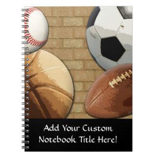 スポーツAl星、バスケットボールまたはサッカーまたはフットボール ノートブック
