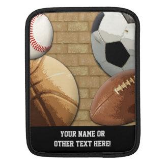 スポーツAl星、バスケットボールまたはサッカーまたはフットボール iPadスリーブ