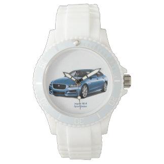 スポーティで白いケイ素のための2017年の車のイメージ 腕時計