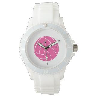 スポーティなピンクのバレーボールの腕時計 腕時計