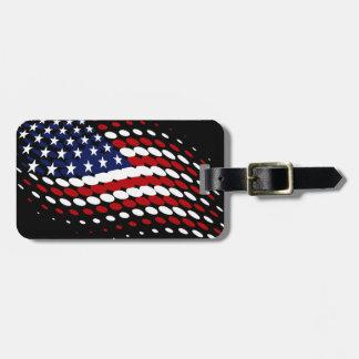 スポーティな明暗中間部米国の米国旗 ラゲッジタグ