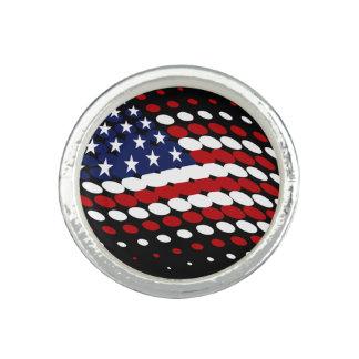 スポーティな明暗中間部米国の米国旗 指輪