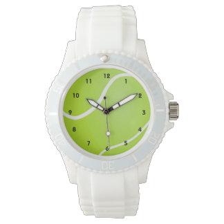 スポーティな緑のテニス・ボール 腕時計