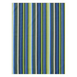 スポーティな青緑のストライプのテーブルクロス テーブルクロス