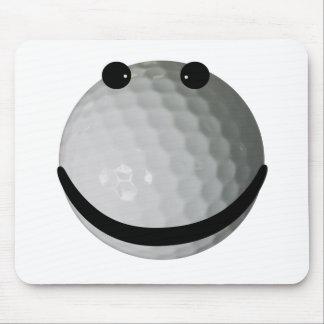 スマイリーフェイスのゴルフ・ボール マウスパッド