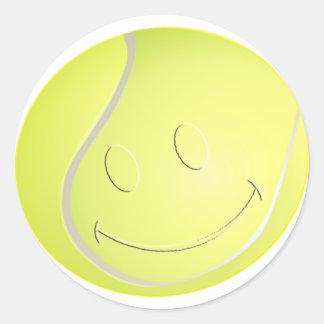 スマイリーフェイスのテニス・ボール ラウンドシール