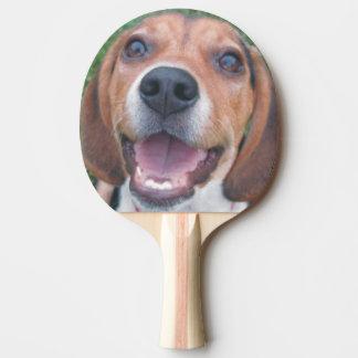 スマイリーフェイスのビーグル犬 卓球ラケット