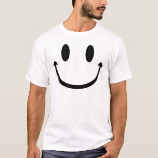 スマイリーフェイスの大きい口 Tシャツ