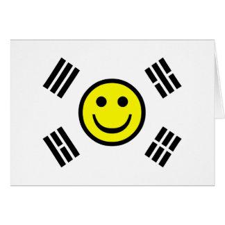 スマイリーフェイスの韓国人の旗 カード