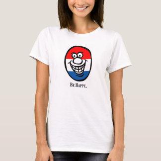 スマイリーフェイスの(幸せがあって下さい) *America Tシャツ