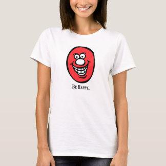 スマイリーフェイスの(幸せがあって下さい) *Pink Tシャツ