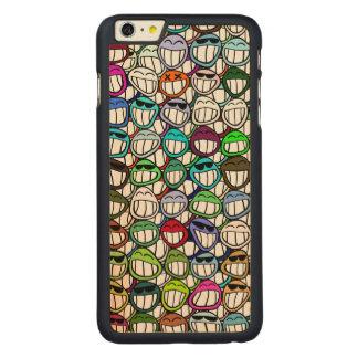 スマイリーフェイスパターン CarvedメープルiPhone 6 PLUS スリムケース