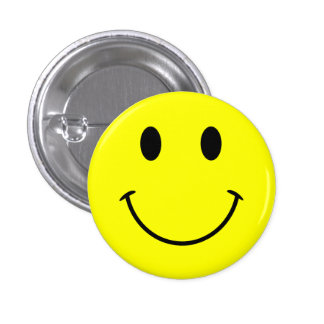 スマイリーフェイスボタン 3.2CM 丸型バッジ