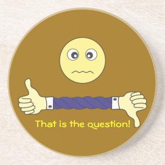 スマイリーフェイス主要な質問カスタム コースター