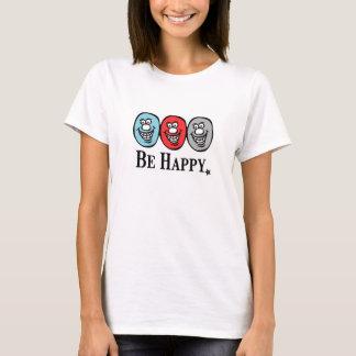 スマイリーフェイス(幸せがあって下さい) Tシャツ