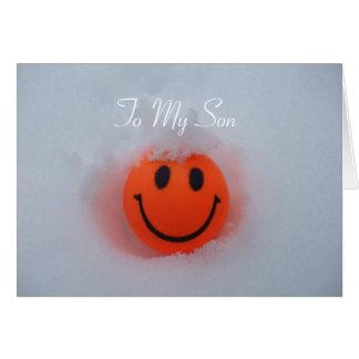 スマイリーフェイス-息子のバレンタインデー カード
