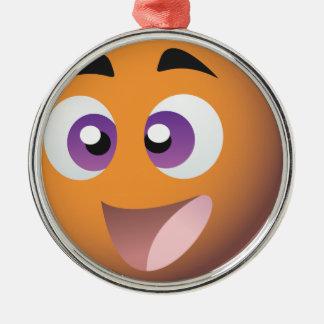 スマイリー! イギリスのビンゴのプロモーションの商品 シルバーカラー丸型オーナメント