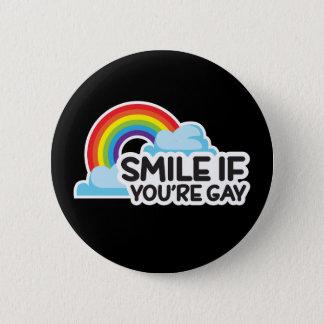 スマイルあなたは陽気ななら虹LGBTのプライド 5.7CM 丸型バッジ