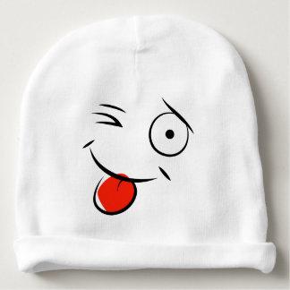 スマイルおよびまばたきのベビーの帽子 ベビービーニー