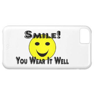 スマイルそれをよく身に着けています iPhone5Cケース