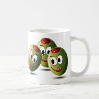 スマイルで満ちているオリーブ コーヒーマグカップ