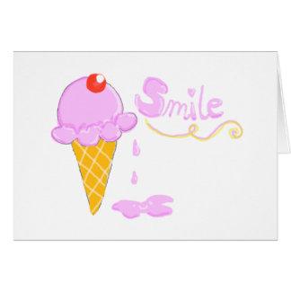 スマイルのアイスクリーム カード