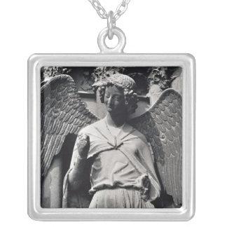 スマイルの天使 シルバープレートネックレス
