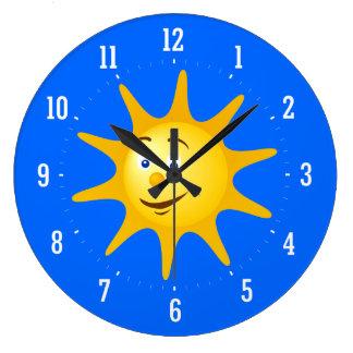 スマイルの太陽の装飾的な時計 ラージ壁時計