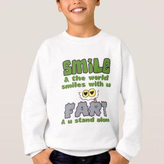 スマイルの屁のワイシャツ-スタイル及び色を選んで下さい スウェットシャツ