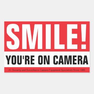 スマイル、あなたのカメラ! 長方形シール