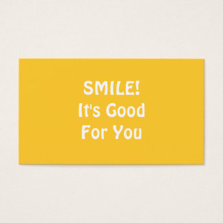 スマイル! それはあなたのためによいです。 黄色 名刺