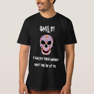 スマイル! ハロウィンおもしろいなDOTDのTシャツ Tシャツ