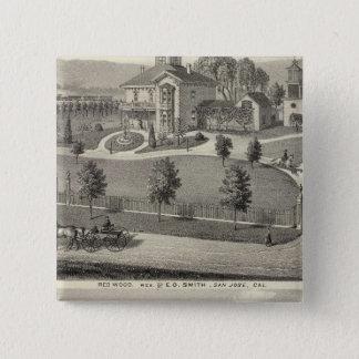 スミスのエバンズの住宅 5.1CM 正方形バッジ