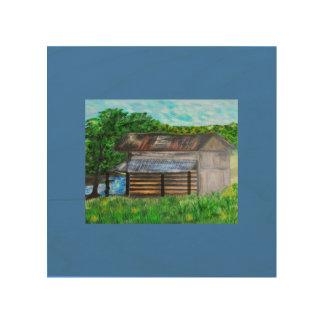 スミスmountain湖によるタバコの納屋 ウッドウォールアート