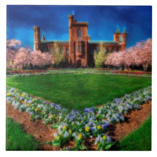スミソニアン城の庭の桜 タイル