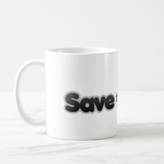 スモッグの役人のマグを救って下さい コーヒーマグカップ