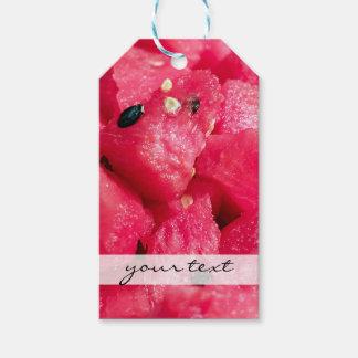 スライスされたスイカサラダの新しくフルーツのような写真 ギフトタグ