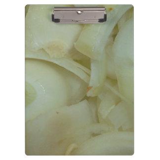 スライスされたタマネギの野菜食糧写真 クリップボード