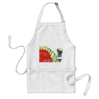 スライスされるBeefsteakのトマトおよびペポカボチャ スタンダードエプロン
