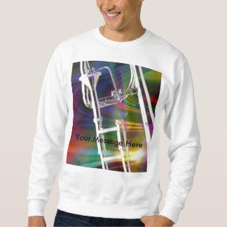 スライドトロンボーンのワイシャツかTシャツ文字を加えます スウェットシャツ
