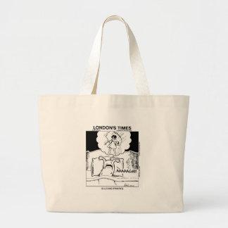 スラグ悪夢のおもしろいな漫画のギフト及びティー ラージトートバッグ