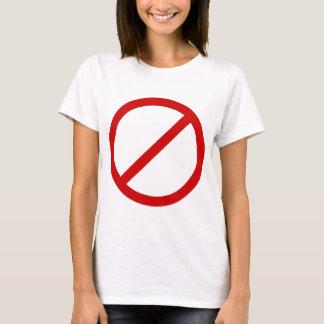 スラッシュのテンプレートの反テンプレートの円 Tシャツ