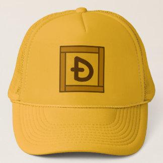 スラッシュのDogecoinのCSの正方形の金の帽子とのD キャップ