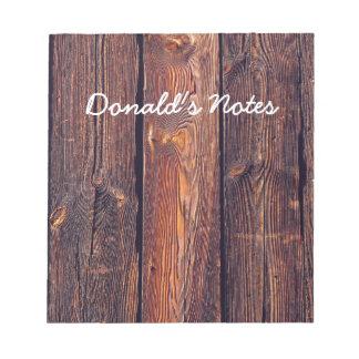 スラットパターン木板 ノートパッド
