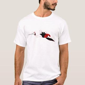 スラロームの水上スキーのティー Tシャツ