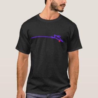 スラローム水スキーヤーのネオンのTシャツ Tシャツ