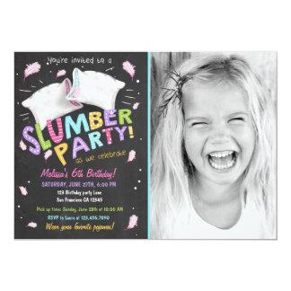 スランバー・パーティーのパジャマのSleepoverの招待状 カード