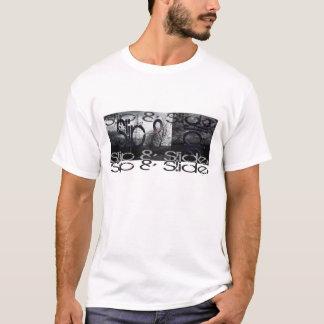 スリップ及びスライド Tシャツ