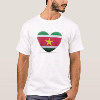 スリナムのハートの旗 Tシャツ